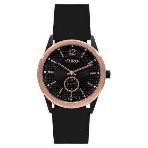Relógio Euro Feminino Rosê-Preto Eu1l45ab-8p