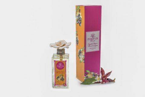 Difusor de Aromas Orquídea negra e Flor de laranjeira com Flor de Cerâmica 260ml