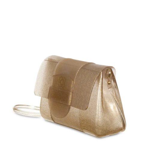 Bolsa One Petite Jolie PJ4556 Glitter Dourado lado